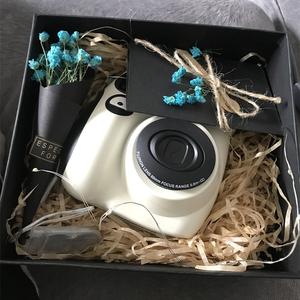 礼盒 换购相纸  拍立得 mini7c 白色 儿童相机  立拍得mini7s升级