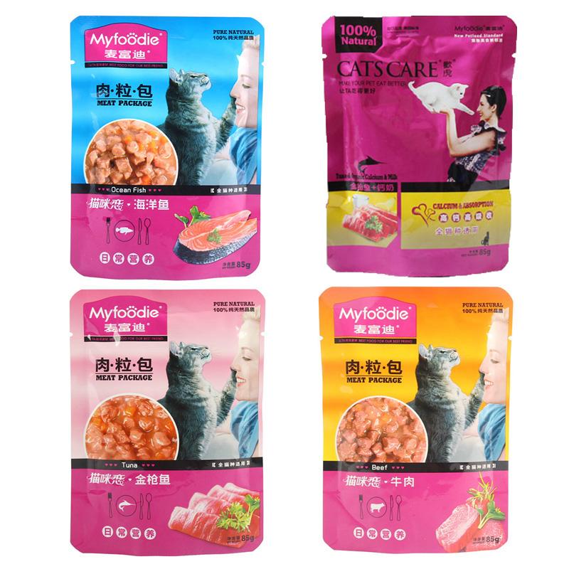 貓罐頭 麥富迪貓咪戀金槍魚妙鮮封包12包 成幼貓咪營養零食貓濕糧