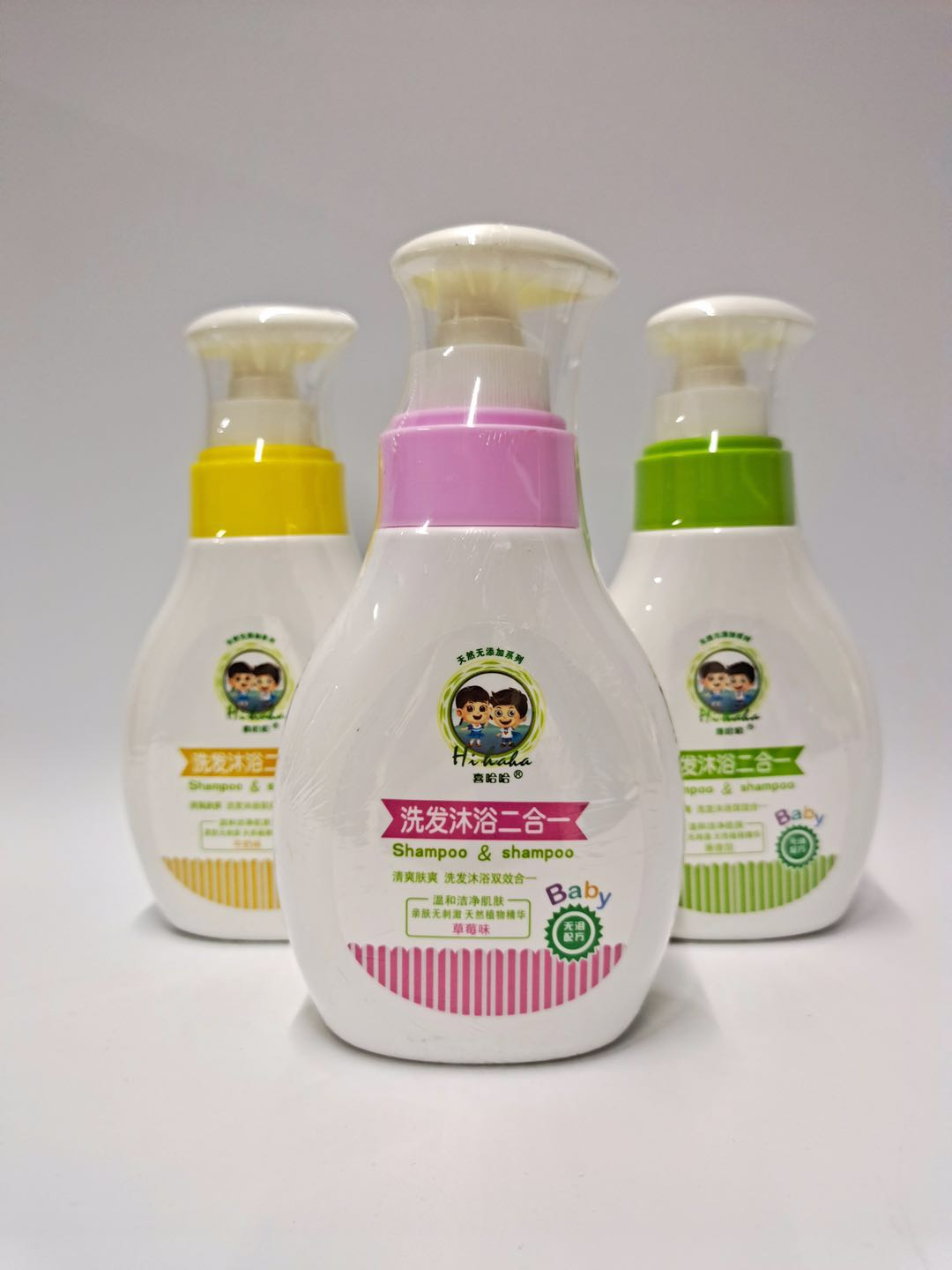 Xiha childrens tearless shampoo and bath two in one 300ml shampoo and Bath Gel