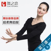 Dance Love Dance Costume t-shirt modern dance top slimming Lady Adult aerobics long sleeve slimming Practice Suit