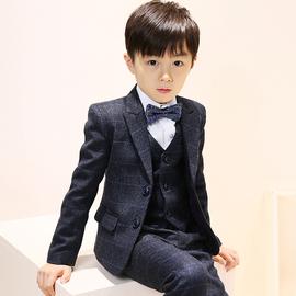 儿童西装套装男童花童礼服钢琴演出服中大童帅气小孩西服外套春秋图片