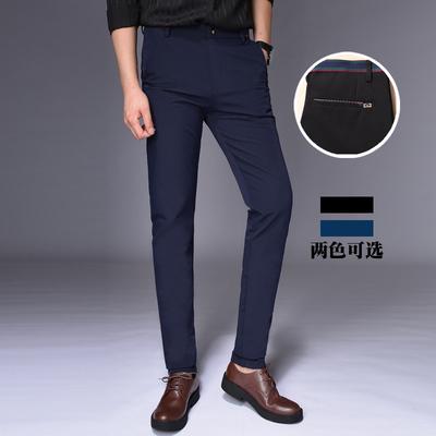 U2030-p50四季新款男士弹力商务修身休闲裤男小直筒裤