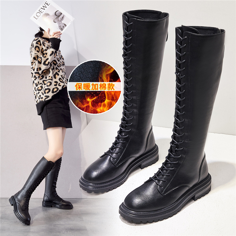 Martin boots womens autumn / winter 2020 new long boots womens Chelsea pipe boots simple versatile fashionable thick soled boots