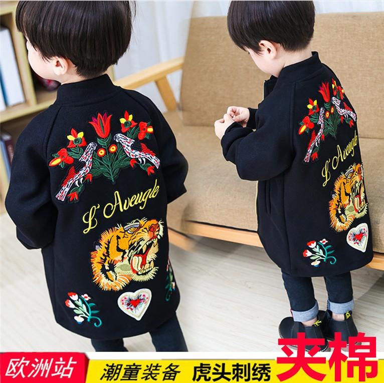 Мальчиков ребенок 2017 новый осень зима шерстяной пальто пальто ребенок корейский шерстяной утолщённый сезон ребятишки волна