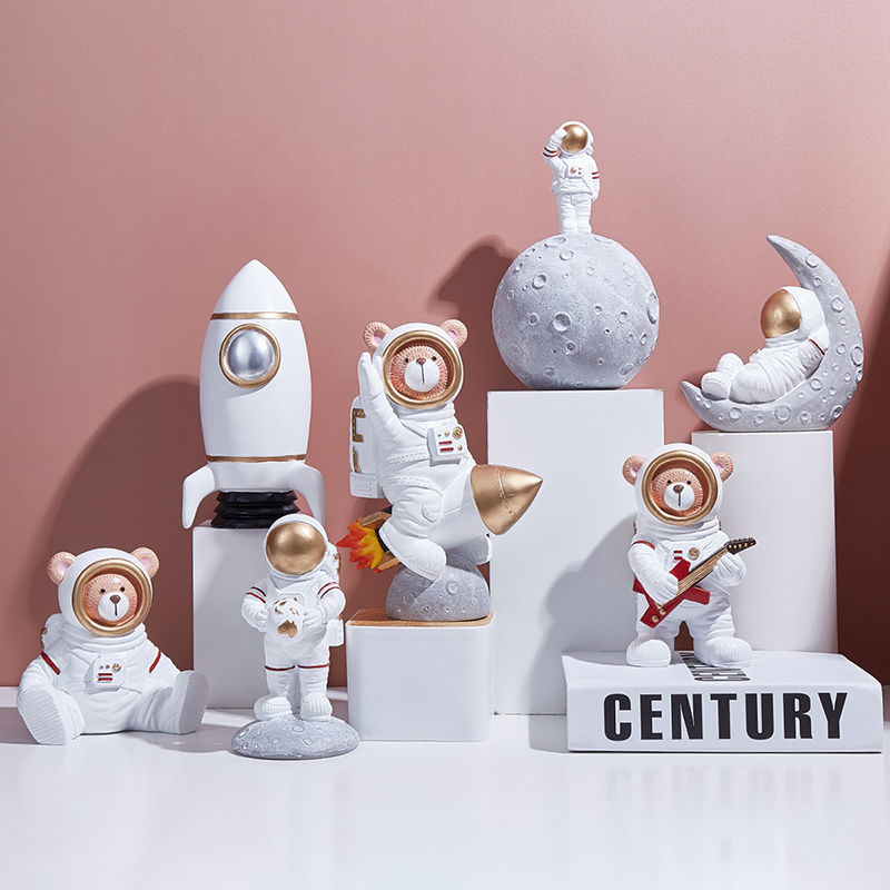 Astronaut model home living room spaceman ornaments simple