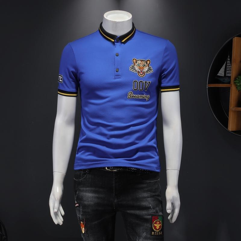 2021年新款短袖POLO衫 钱塘3019 7723 P65 假模蓝色