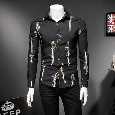2018年新款长袖衬衫 钱塘3019 18108 P70 假模黑色
