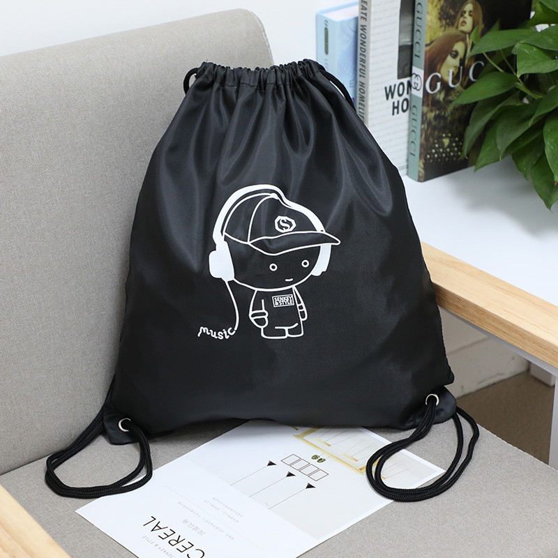 Waterproof strap pocket Drawstring Backpack mens and womens customized logo backpack simple schoolbag for primary school students