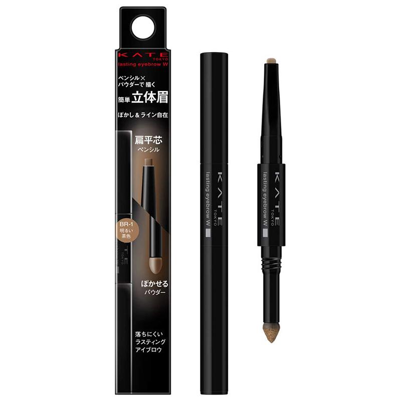 日本KATE/凯朵眉笔眉粉双头防水防汗不晕染持久扁头一字眉化妆师图片