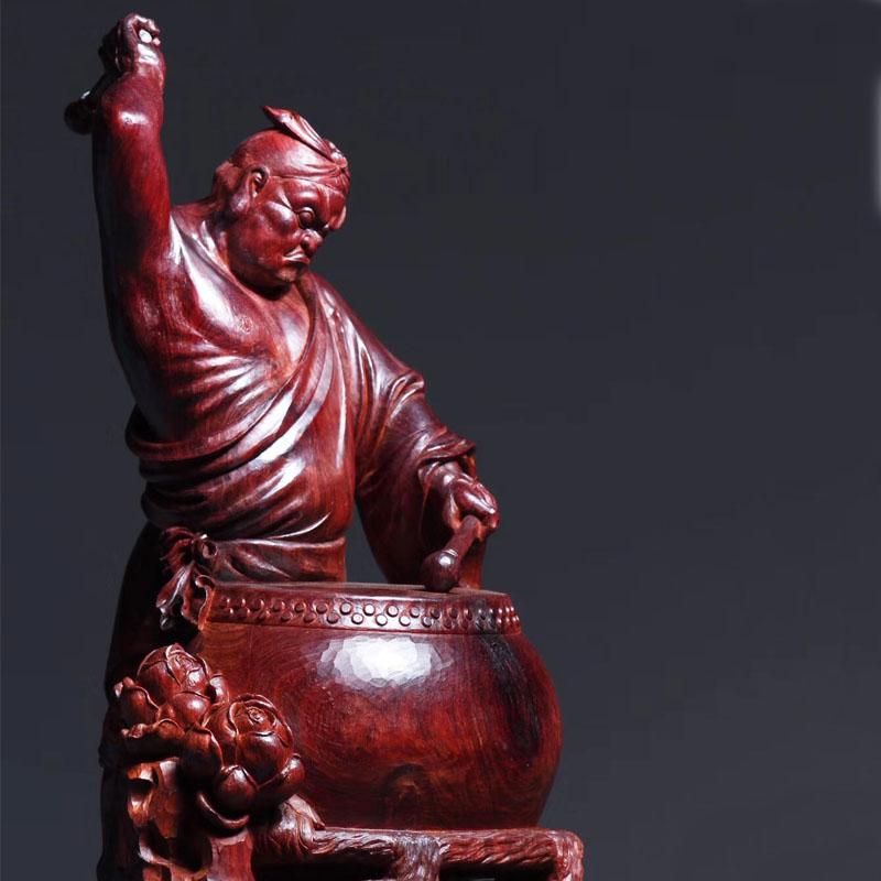 股神炒股必备收藏神器印度小叶紫檀大料大师创意作品木雕摆件文玩