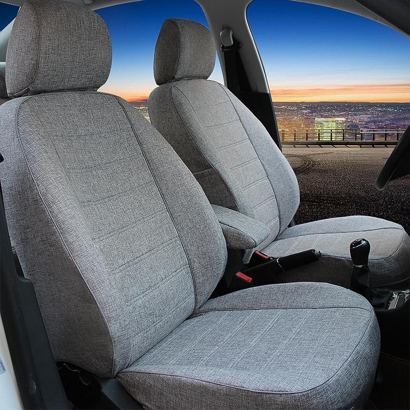 汽车座套全包四季大众捷达朗逸桑塔纳英朗新福克斯专用亚麻布坐套