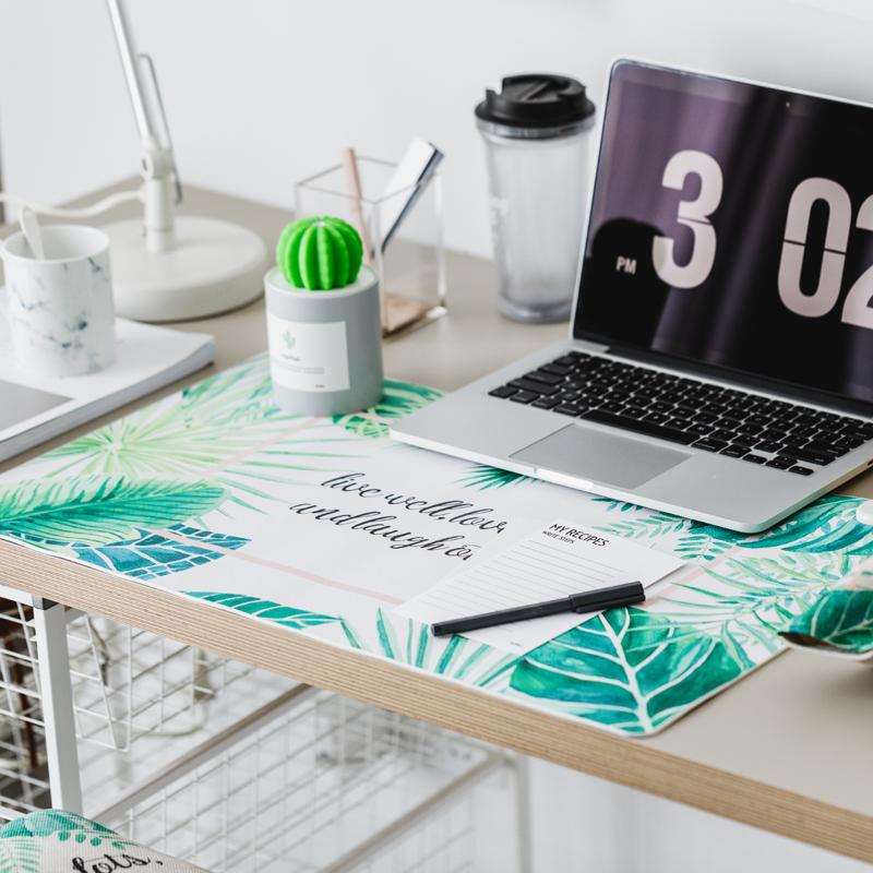 包邮 Mattys原创北欧树叶暖桌垫 办公桌暖手加热书写垫学生写字板
