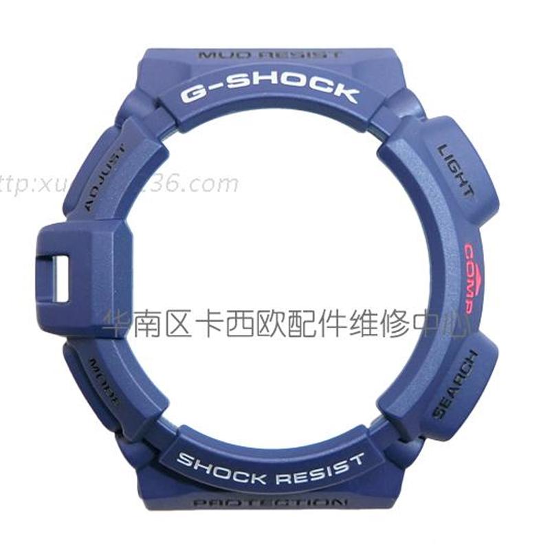原�b正品CASIO卡西�W手表��G-9300NV�{色手表配件GW-9300表框�m用