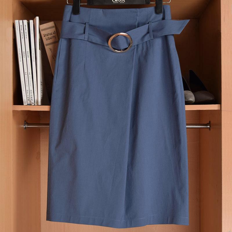 夏季新款过膝裙半身长裙中长款包臀铅笔裙职业气质高腰显瘦半裙女