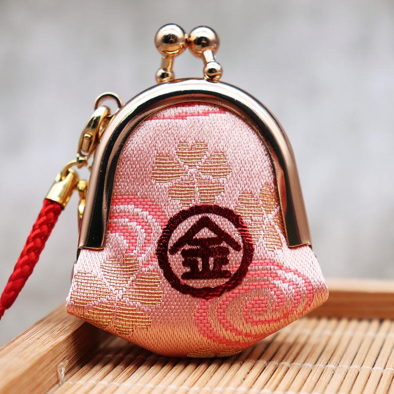 日本京都御金神社金运钱包刺绣香囊手机钥匙扣证券从业者包挂件