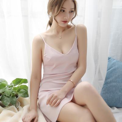 美來美去緞面絲綢睡裙性感情趣內衣冰絲吊帶睡衣超騷激情制服誘惑