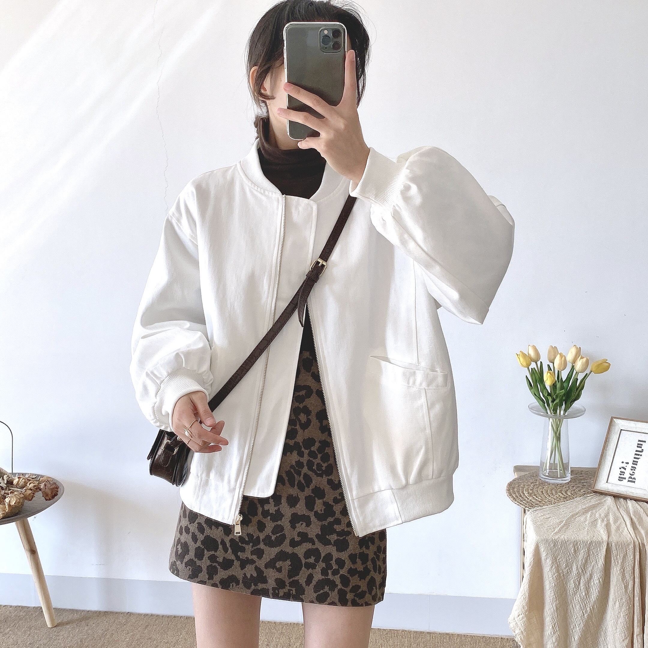 实拍实价 个性外套女ins潮秋冬蓬松保暖冬季棒球服女韩版bf