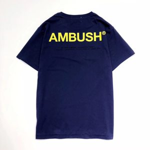 AMBUSH 19SS XL LOGO TEE T-shirt 后背3M反光字母短袖 男女T恤