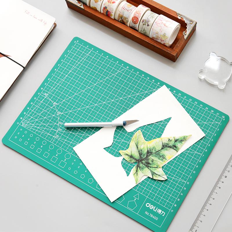得力A4切割垫板橡皮章切割和纸胶带口红贴膜美工手工垫板加厚垫板
