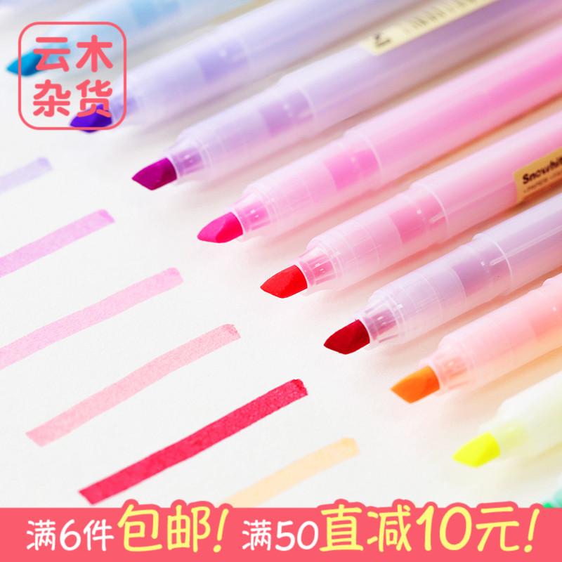 Облако дерево разное товары Snowhite снег мягкий пастель флуоресцентный ручка цвет прямо жидкость стиль пометка карандаш марк многоцветный 10 факультативный