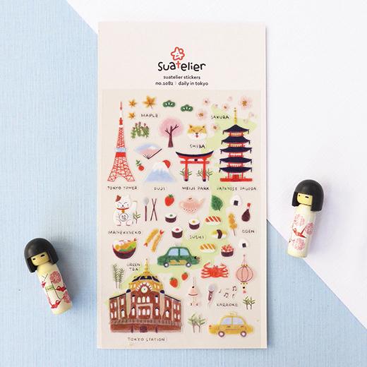 云木杂货 Sonia东京日常透明PVC贴纸 DIY手账相册装饰日式和风