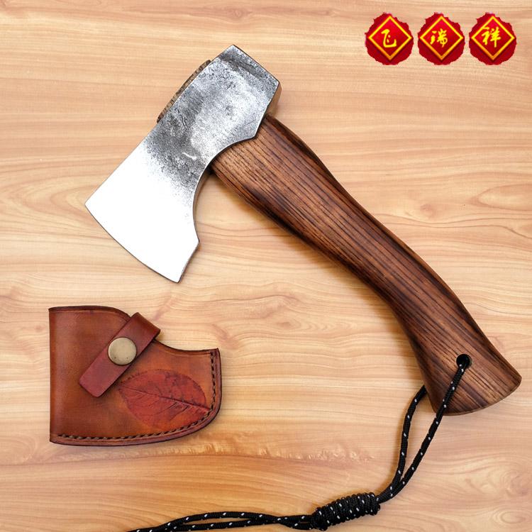 瑞祥MINI斧手工缝制皮套 手工染色 野营斧 营地斧 户外斧 便携斧