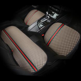 汽车坐垫单片四季通用三件套亚麻无靠背个网红单个屁屁垫夏季车垫