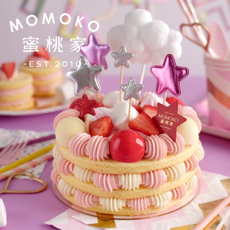 momoko蜜桃家酸奶轻乳酪舒芙蕾蛋糕