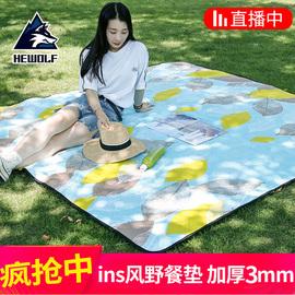 公狼户外野餐垫防潮垫加厚沙滩垫便携超轻防水野炊地垫ins帐篷垫图片