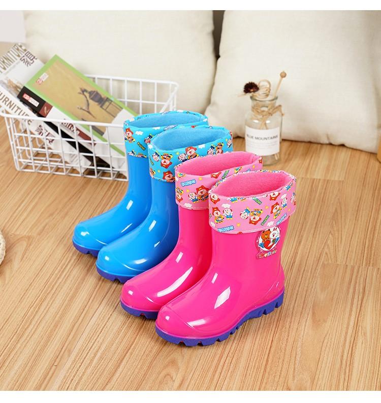 2-10岁儿童雨鞋宝宝水鞋男女童中筒雨靴小中大童防滑童胶鞋雨水靴