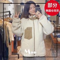 MOBIUSHOP韩国专柜品牌whoau19冬男女款保暖毛绒短外套3折超值款