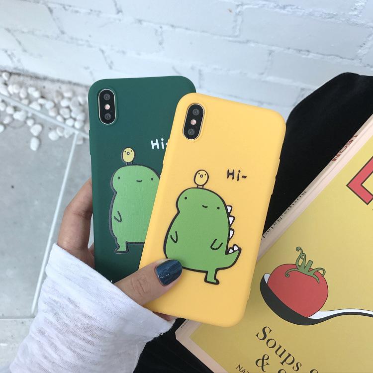 11月10日最新优惠可爱卡通小恐龙6s苹果8plus手机壳