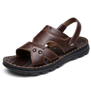 回力男士皮凉鞋夏季真皮凉皮鞋拖鞋
