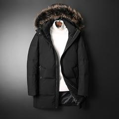2019男士修身羽绒服外套 可脱卸帽加厚羽绒服 8805-P295