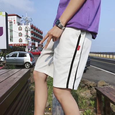 夏季潮男休闲短裤 织带哈伦裤五分裤K160P35