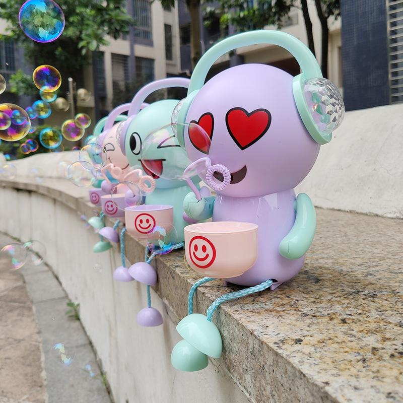 儿童全自动吹泡泡机表情包充电款电动音乐小熊泡泡机抖音网红同款12月07日最新优惠