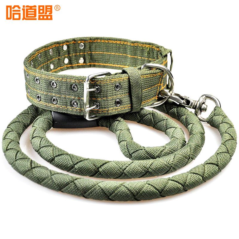 哈道盟寵物牽引繩帶拴狗繩子狗鏈大型犬脖套項圈藏獒用品鏈子套裝