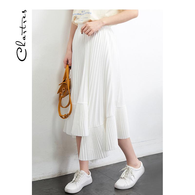12-02新券白色不规则女2019春装新款子半身裙