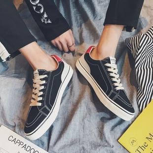 休闲百搭帆布鞋 男士 潮流鞋 运动鞋 青少年韩版 透气鞋 港风夏季 板鞋 子
