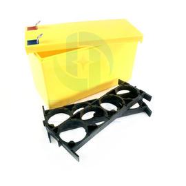 32650磷酸铁锂电池盒3.2V6.4V动力支架9.4V12.8V助力车ABS固定盒