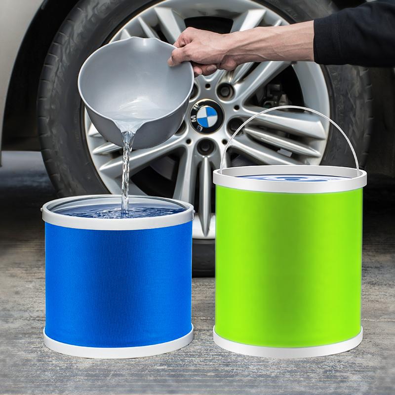 车载折叠水桶车用旅行钓鱼大号便携式可伸缩洗车桶刷车压缩打水筒