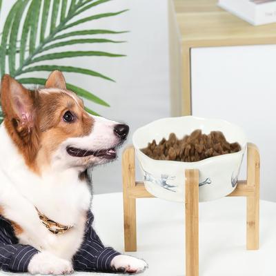 狗碗陶瓷护颈椎大号狗食盆大型犬餐具饮水碗猫碗架子狗饭碗猫餐桌