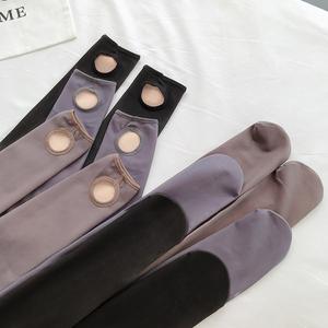 實拍實價一體褲透膚打底褲女空姐灰修身百搭透肉連褲灰襪透膚