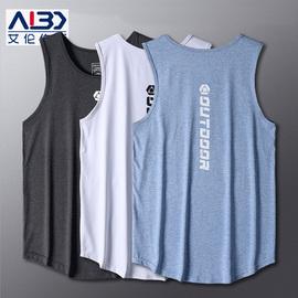 运动背心男冰丝t恤无袖透气夏季速干上衣跑步马拉松健身篮球训练