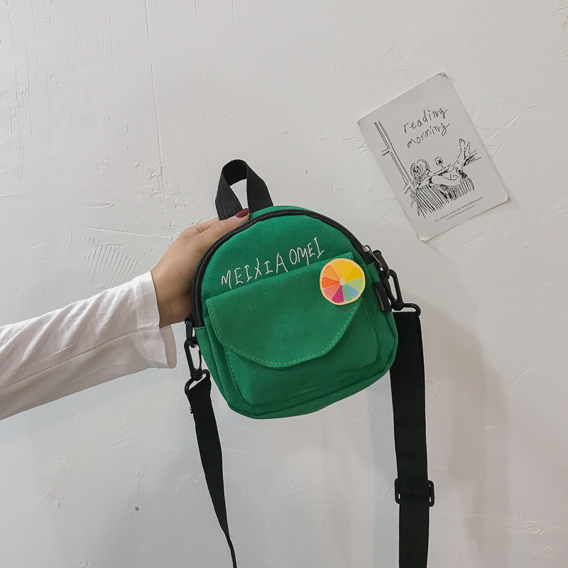 帆布网红小包包女2020新款感洋气帆布包女百搭迷你邮差单肩斜挎包