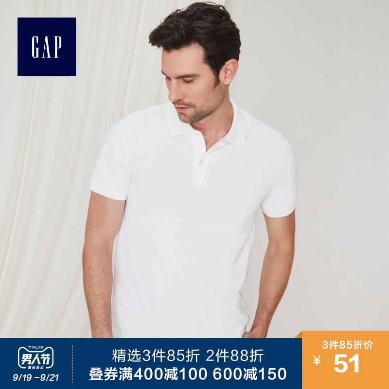 Gap男装纯棉短袖Polo衫夏季556585 E 薄款宽松上衣男士翻领T恤潮