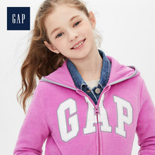 Gap girls' Plush warm sweater 473366 logo hooded children's coat in autumn and winter