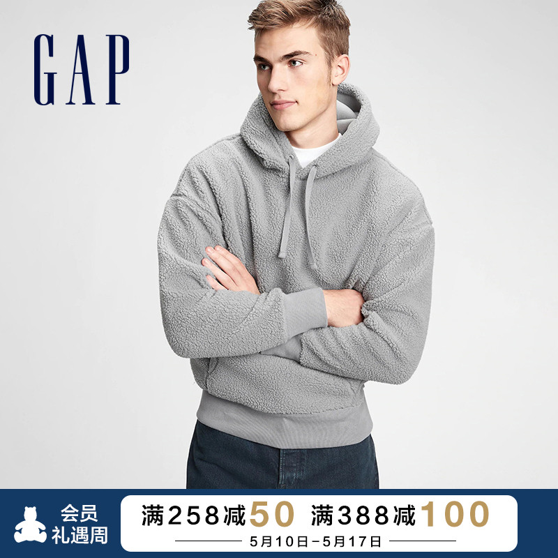 GAP men and women with the same paragraph imitation sheep, leisure casual hoodie 656115 new lovers sports loose sweater