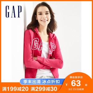 Gap女装休闲连帽衫春季639910 LOGO女士时尚运动开衫上衣卫衣