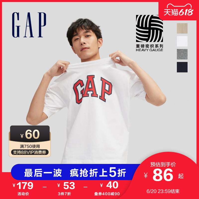 【重磅密织】Gap男女装LOGO纯棉短袖T恤688537 2021夏季新款上衣
